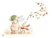 5 autumn leaves