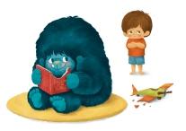 bigfoot_eatingbook